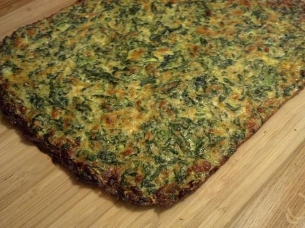 """Low Carb Spinach-Cheese """"bread"""". Photo by Pdorf"""