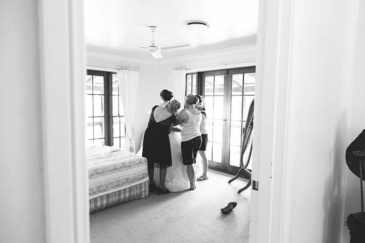 Bridal prep | Getting ready - Dress | Coolibah Downs Wedding | Eliza Davis - Gold Coast Wedding Photographer |