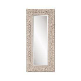 Howard Elliott Mitchum 32-In X 71-In Textured Taupe Beveled Rectangular Framed Traditional Floor Mirror 56098