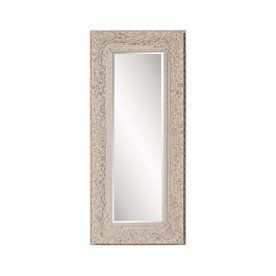 Howard Elliott Mitchum 32-In X 71-In Textured Taupe Beveled Rectangular Framed Traditional Floor Mirror 56098