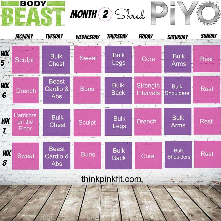 69 best beachbody workout calendars programs images on pinterest workout calendar training