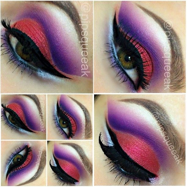 Colorful cut crease! #makeupbyaprillopes