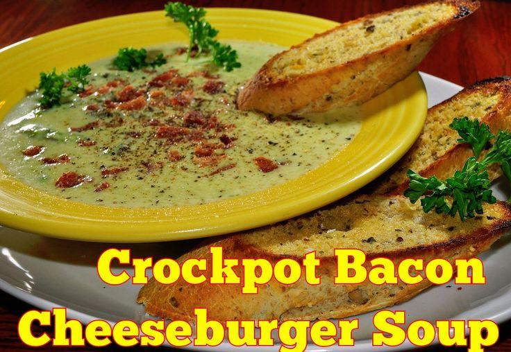 I will call this baconator soup ....Crockpot Bacon Cheeseburger Soup
