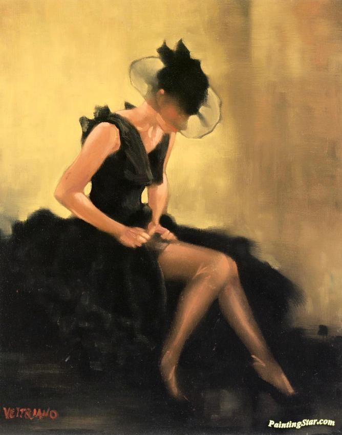 Evening Black Artwork by Jack Vettriano