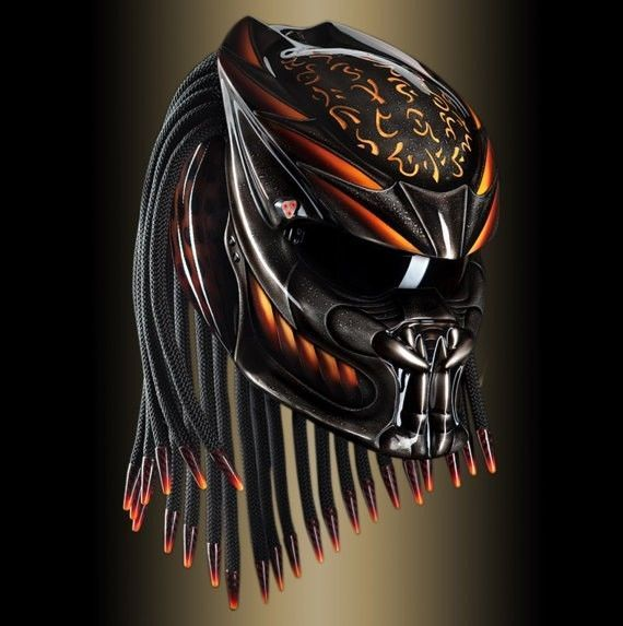 THE AMAZING PREDATOR HELMET CUSTOM DOT APPROVED #CELLOS