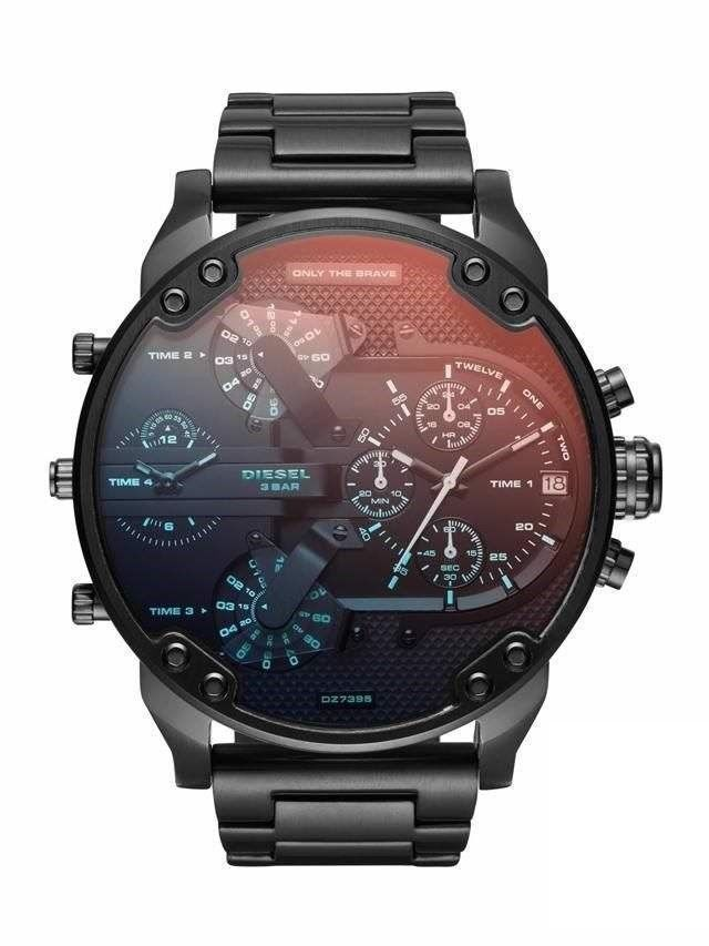 Original Diesel Herren Uhr Dz7395 Xl Mr Daddy 20 Black Ip Neu Ovp