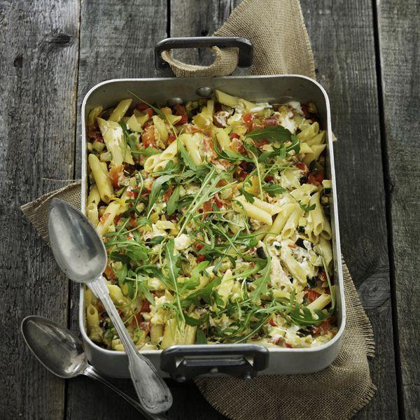 Pasta med färska grönsaker och ricotta
