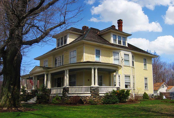 Historical Foursquare House Plan 31512gf: 266 Best Foursquare House Images On Pinterest