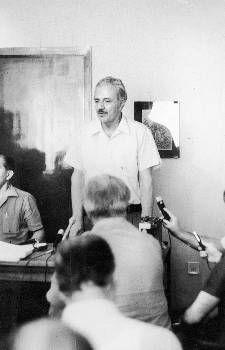 Από τη συνέντευξη στα γραφεία της ΚΟΑ τον Αύγουστο του 1974