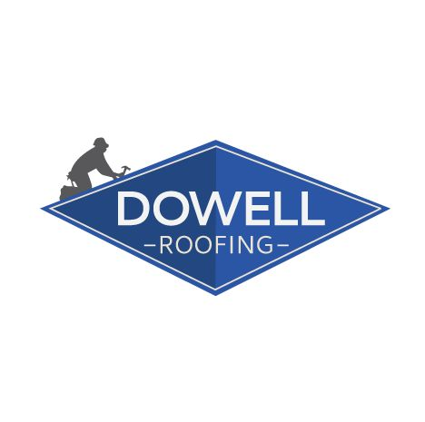 Dowell Roofing Logo created by Titan Web Marketing Solutions. Visit us at titanwms.com.