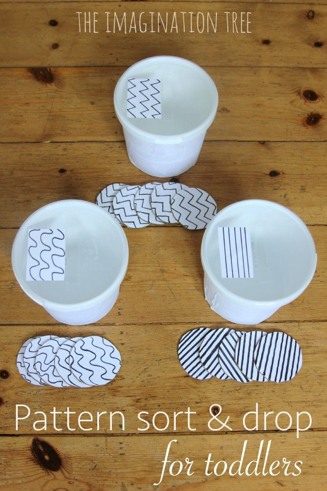 Toddler Pattern Sort and Drop Game
