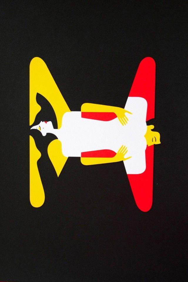 The Kama Sutra Alphabet  Le Kama Sutra Alphabet est un projet personnel de l'illustratrice française basée à Londres, Malika Favre. Reprenant visuellement chaque lettre de l'alphabet en utilisant des couples en pleine union, des impressions sont présentées du 18 au 28 avril à la Somerset House de Londres.: