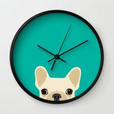 Часы настенные французские бульдоги