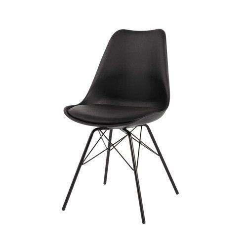 Chaise en polypropylène et métal noire