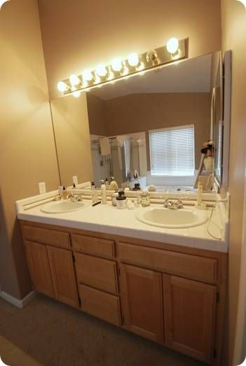 Best 25 budget bathroom makeovers ideas on pinterest - Bathroom paint colors with oak cabinets ...