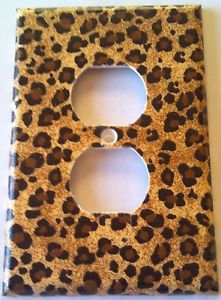 Cheetah Leopard Print Outlet Plate Cover Bathroom Kitchen Room Decor
