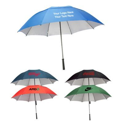 62 Inch personalized manual open umbrellas bearing protective UV silver coating SPF will offer a cool canopy for printing your brand information.  sc 1 st  Pinterest & 82 best Umbrellas images on Pinterest | Umbrellas Fabric and Fabric ...