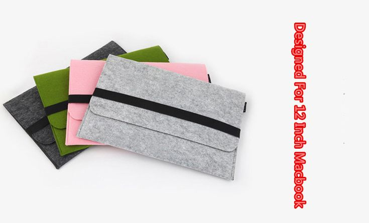 2016 Cheap Macbook 12 Inch Felt Sleeve Covers Cases Or Bags For Girls MB1205_6