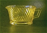 glass creamer in the Diana pattern