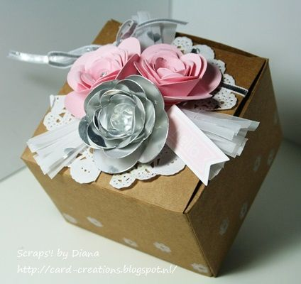Stampin'Up! spiral flower Perfect Pennants box