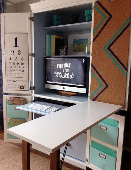 Computerschrank Mit Ausklappbarem Schreibtisch   Haus Dekoration   Ausklappbarer schreibtisch ...