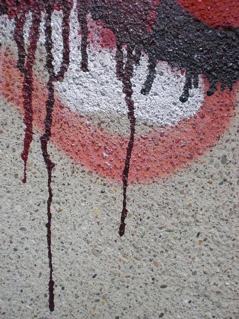 bleeding graffiti