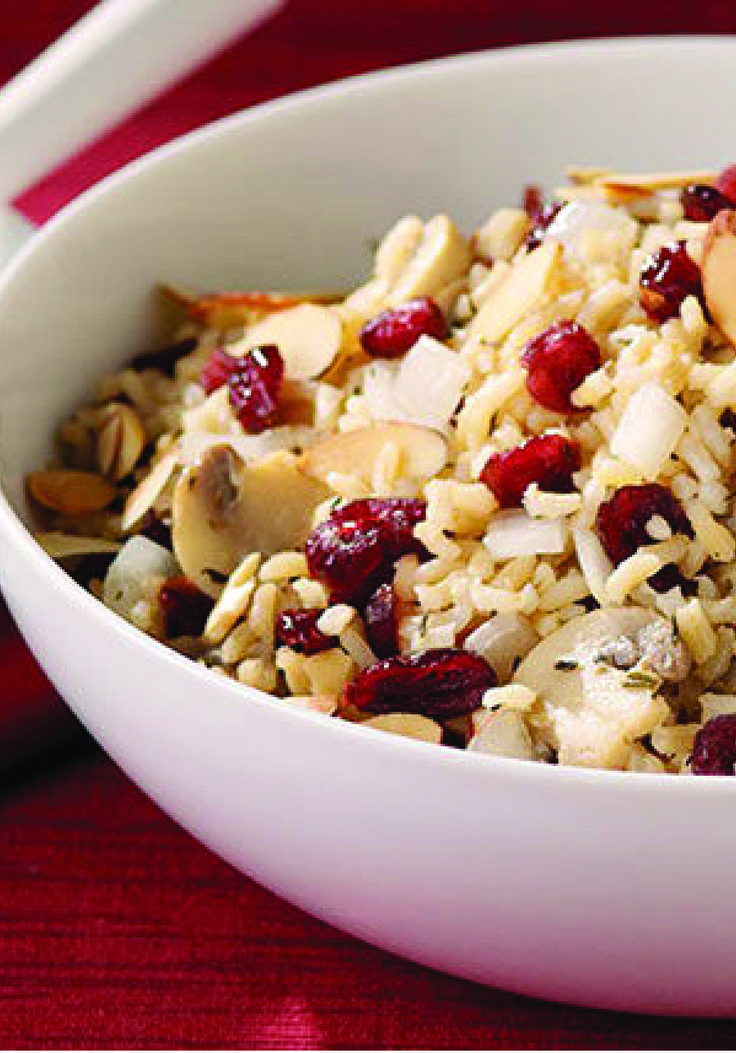 Mushroom, Almond and Cranberry Rice Pilaf – Cranberries ...