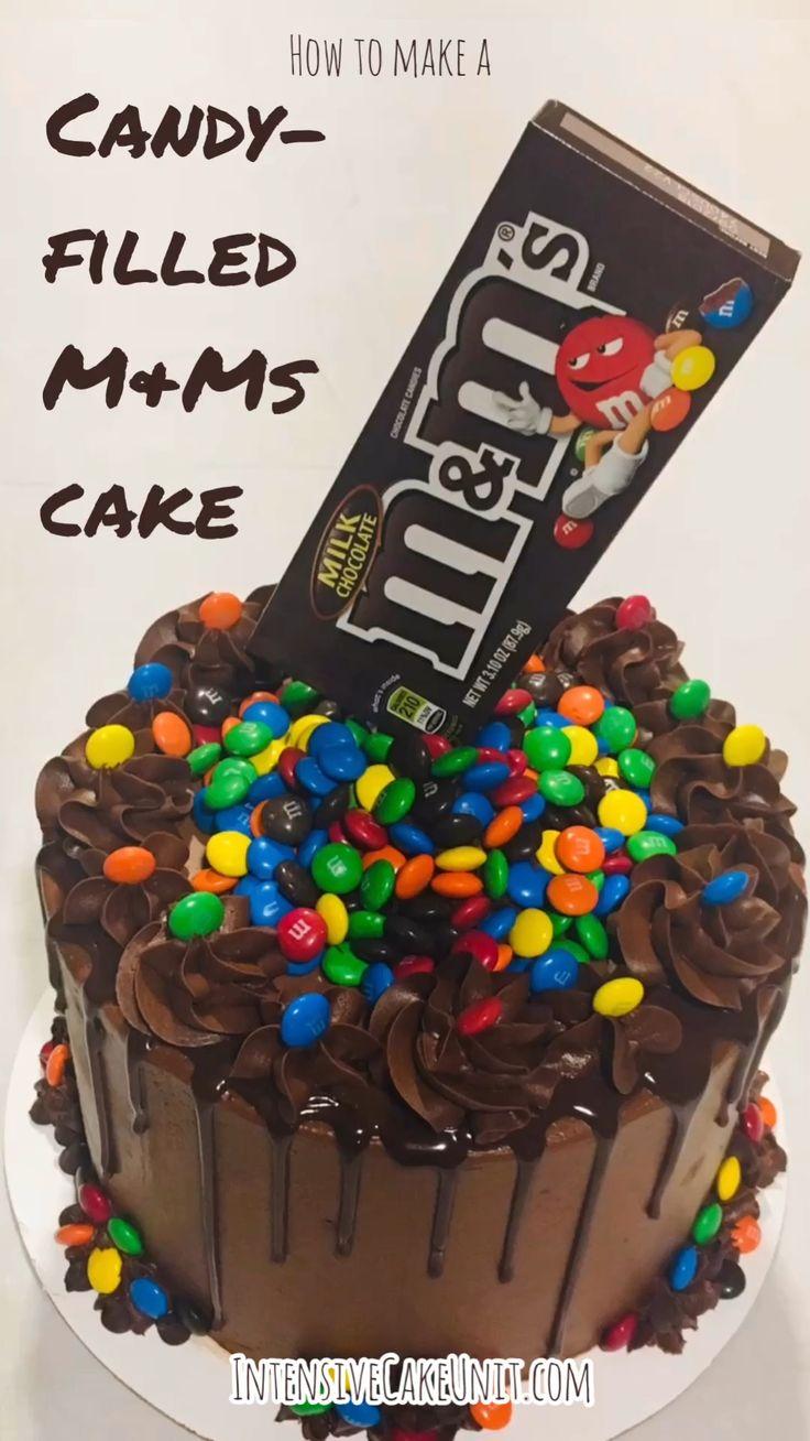 Candy-filled M&Ms Cake   – Süslemeler ve şekiller