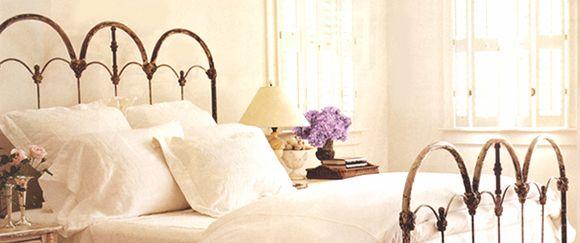 Queen Size Iron BedGuest Room