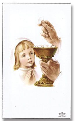 personalized first communion holy cards girl 25005