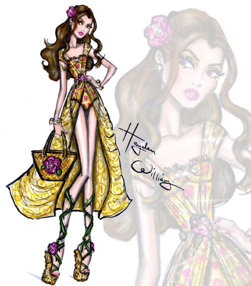 Disney Divas 'Beach Beauties' by Hayden Williams: Belle