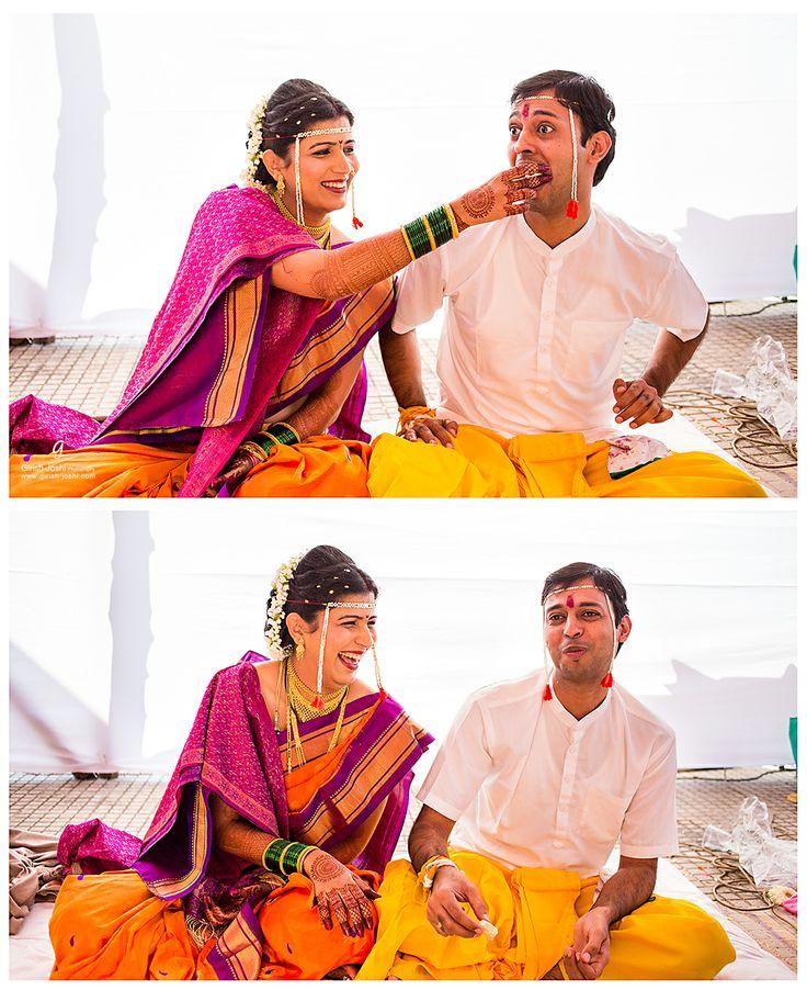 Maharashtrain wedding moments.  #candid photography #wedding photography #maharashtrian bride #girishjoshi #girish joshi photography