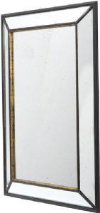 Rustique Large Black Distressed Mirror