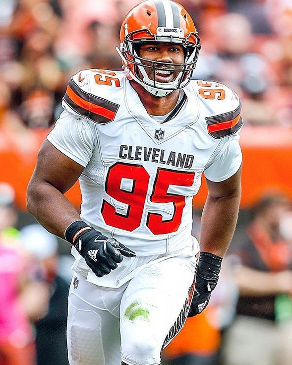#95 Myles Garrett. Gonna be a legend!
