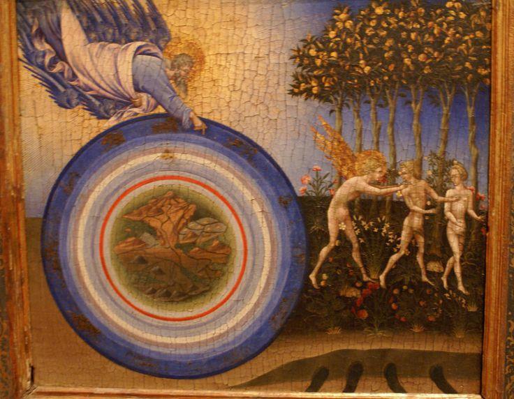 Джованни ди Паоло. «Сотворение мира и Изгнание из рая».1445 г. Нью-Йорк, Музей Метрополитен.