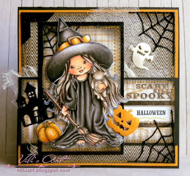 Vili's Art: Scary, spooky Halloween by Mo Manning