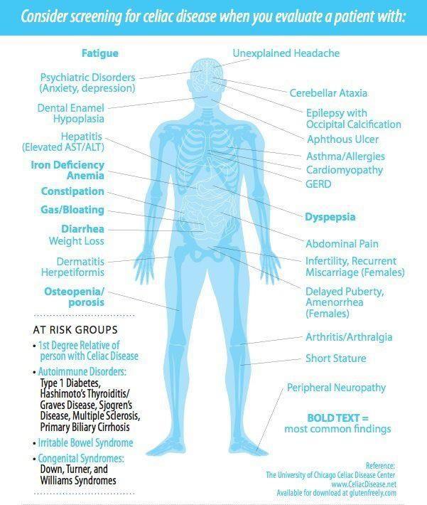 Celiac Disease Screening indicators