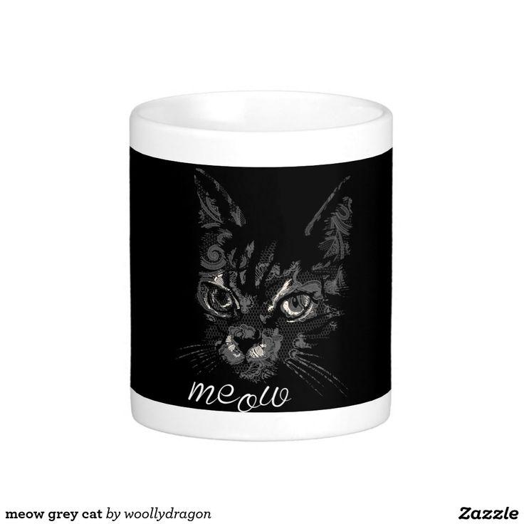 meow grey cat