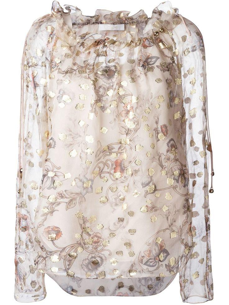 Chloé sheer blouse