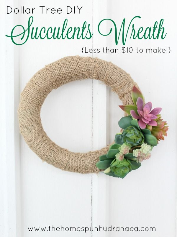 Dollar Tree DIY Succulents Wreath Craft