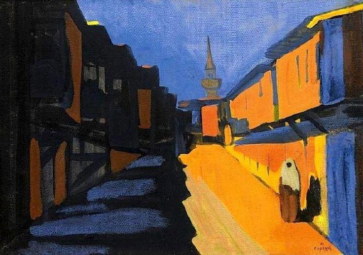 Martiros Saryan - Street at evening
