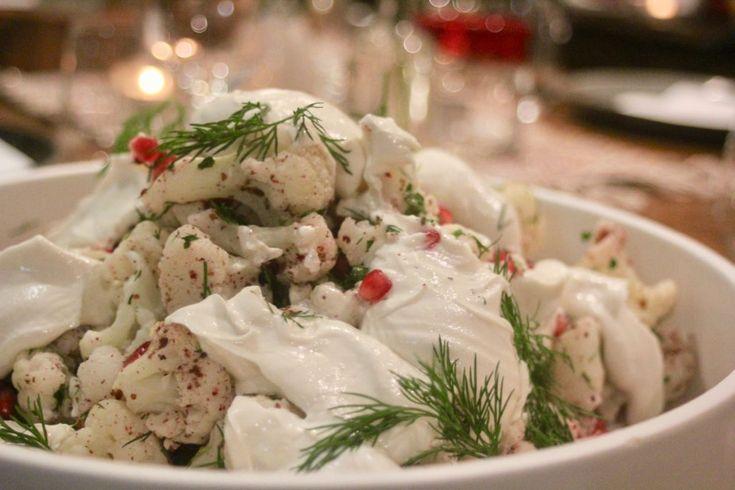 Warm cauliflower and sumac salad