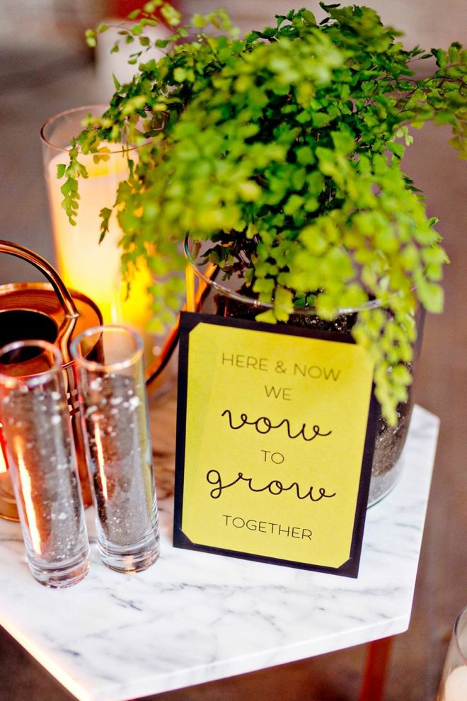DIY Tree Planting Unity Ceremony with FREE sign printable!