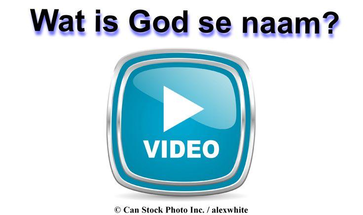 In die Bybel, sê God vir ons sy naam - Jehovah!   Kyk asseblief hierdie video om meer te leer: www.jw.org/af/publikasies/boeke/goeie-nuus-wat-van-god-kom/wie-is-god/video-god-se-naam/  (In the Bible, God tells us his name - Jehovah! Please watch this video to learn more:  www.jw.org/af/publikasies/boeke/goeie-nuus-wat-van-god-kom/wie-is-god/video-god-se-naam/)