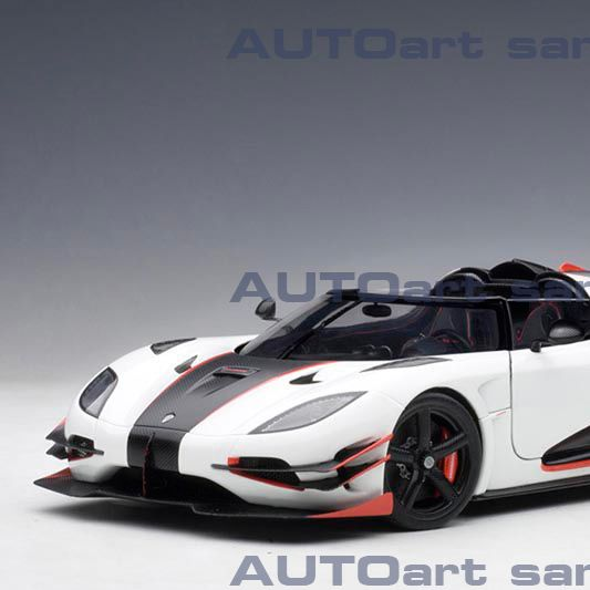 KOENIGSEGG ONE:1 (PEBBLE WHITE/CARBON BLACK /RED ACCENTS) 2014