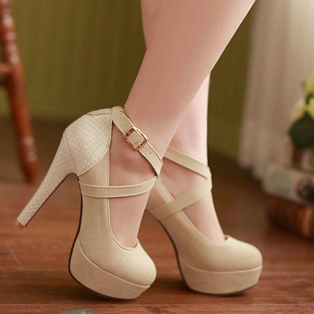 Женский мелкая рот высокие каблуки женщин насос Весна новая мода простой сплошной цвет ОЛ круглый носок женские туфли