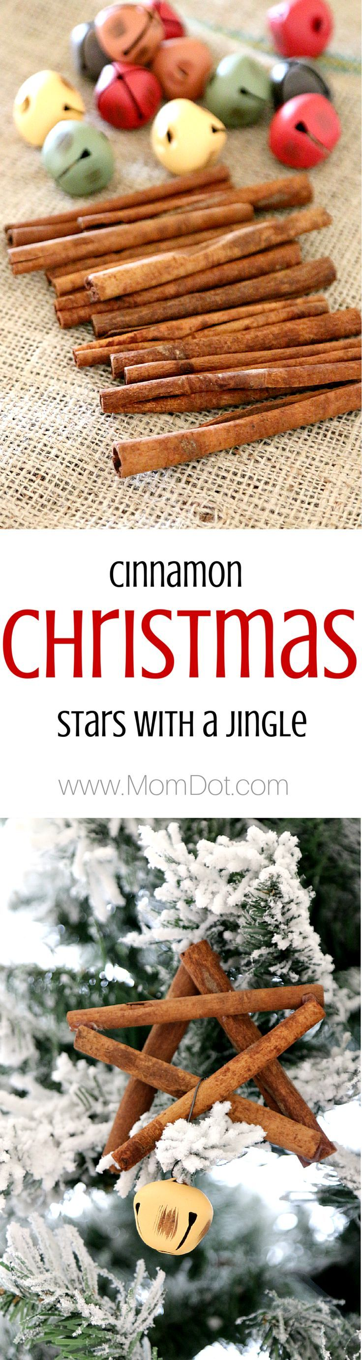 how to make a cinnamon stick ornament tutorial