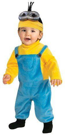 Pin for Later: 169 Warm Halloween Costume Ideas That Won't Leave Your Kids Freezing Minions Costume Yellow Minions Toddler Kevin Costume ($16)