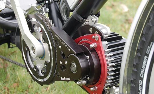 Ecospeed Motor With Downtube Mount Electric Bike