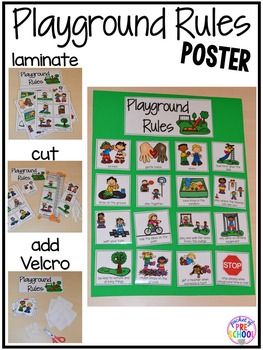 Playground & Recess Rules Book, Posters, & Student Certificates